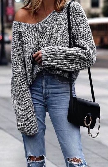 c02a5eb89a5 Off-the-shoulder sweater