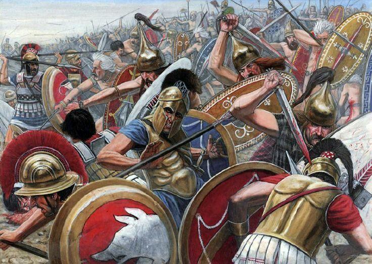 Hoplite Battling Gauls