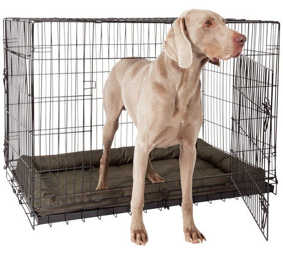 Buy Double Door Pet Cage Extra Large Dog Kennels And Crates Argos Puppy S Pet
