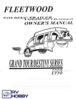 1998 coleman camping trailers by fleetwood owners manual