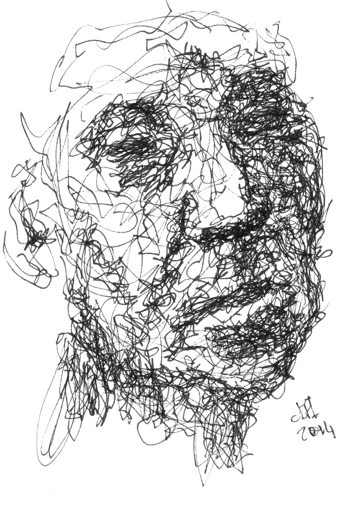 Scribble Sketch Drawing : The pen scribble sketches of dougie harley d h