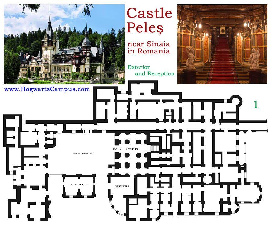 Peles castle floor plan 1st floor for Castle plans build