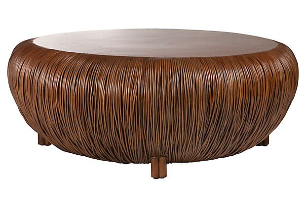 Oasis Coffee Table Create an oasis of exotic style when you place this rattan framed coffee table into your living room.  on OneKingsLane.com