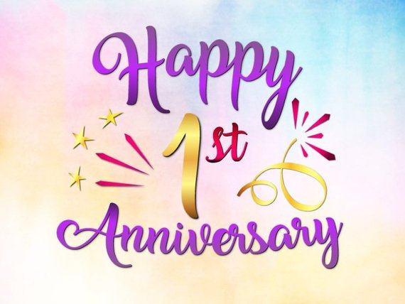 Happy 1st Anniversary Svg File For Cricut Wedding First One Year Lettering Happy 4th Anniversary 1st Wedding Anniversary Wishes Happy First Wedding Anniversary
