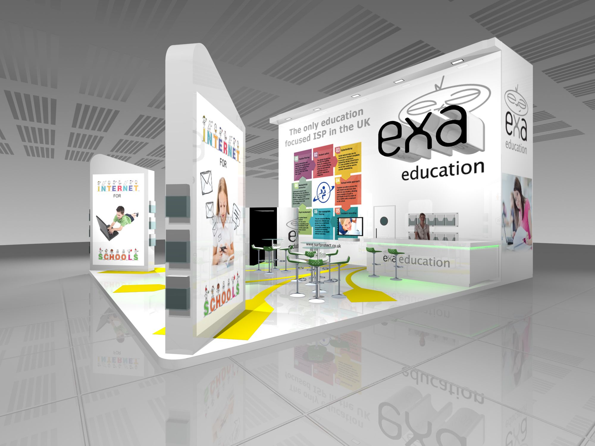 Bett Exhibition Stand Of The Year : Exa networks exhibition stand design render for bett