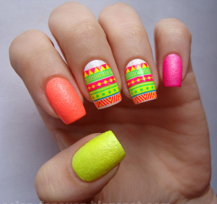Cute Neon Nail Designs Image collections - nail art and nail design