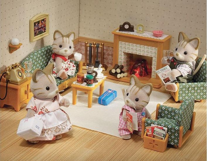 Sylvanian families country living room set macavity - Calico critters deluxe living room set ...