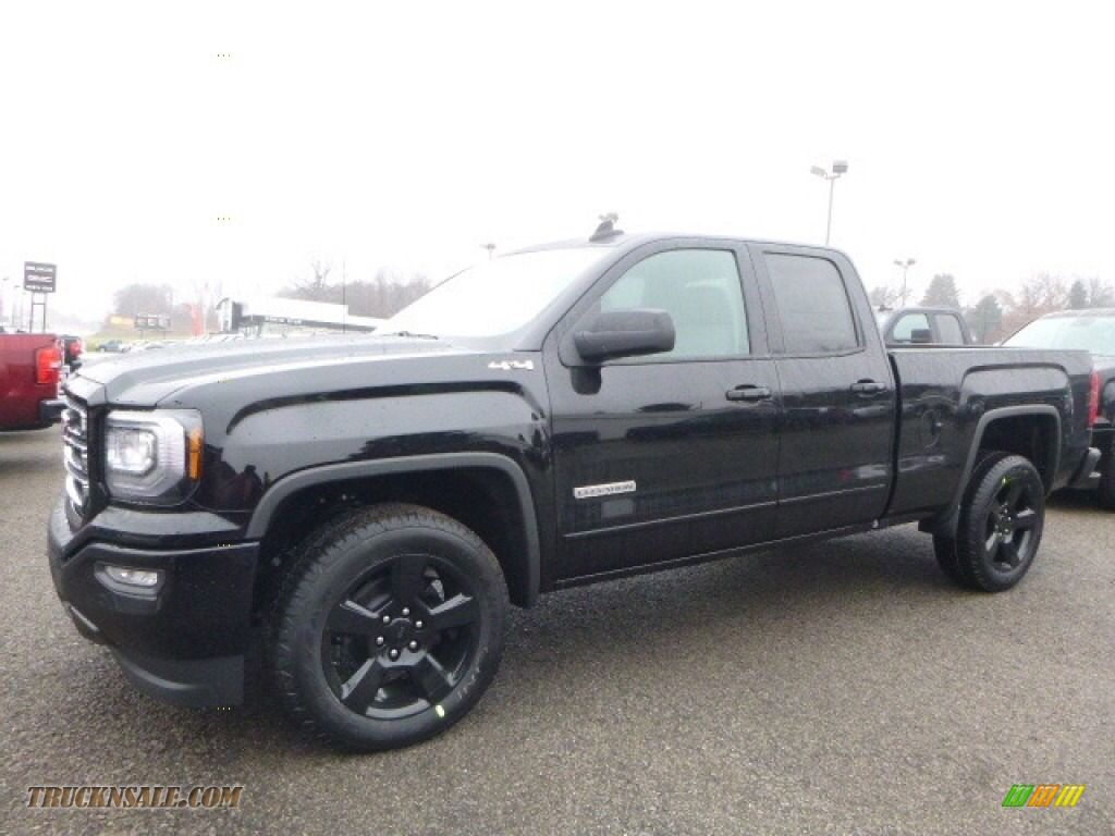 2017 Gmc Sierra 1500 Elevation Edition Double Cab 4wd In Onyx