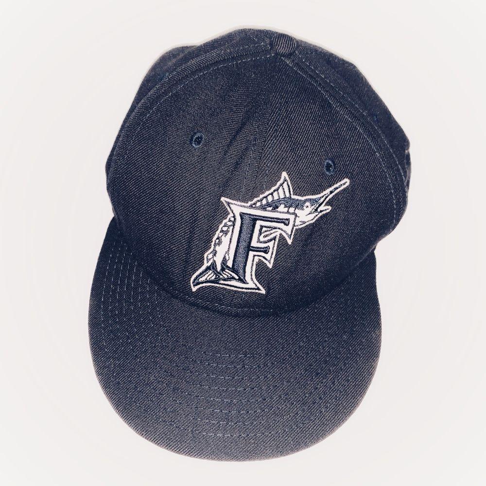 e28e014eff463 Florida Marlins New Era 59Fifty MLB Size Small 7 1/8 Navy Blue Hat Cap  Miami #NewEra #Fittedcap #FloridaMarlinsMiamiMarlins
