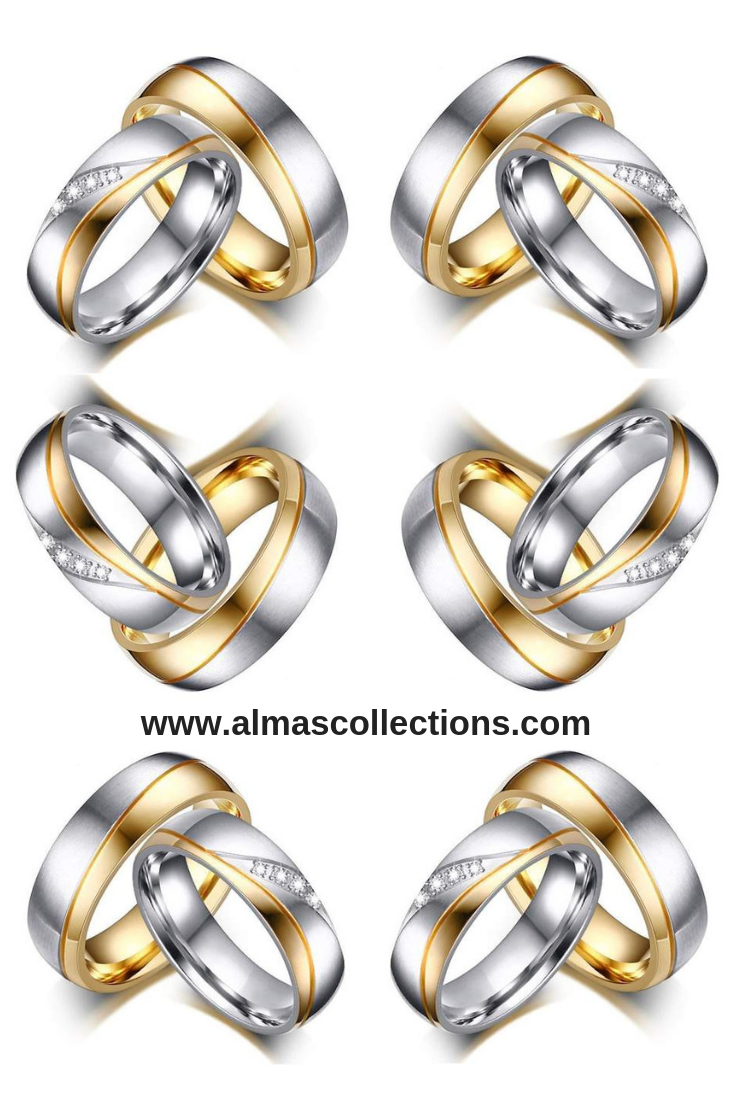Only 16 99 Men Women Gold Color Stainless Steel Engagement Or