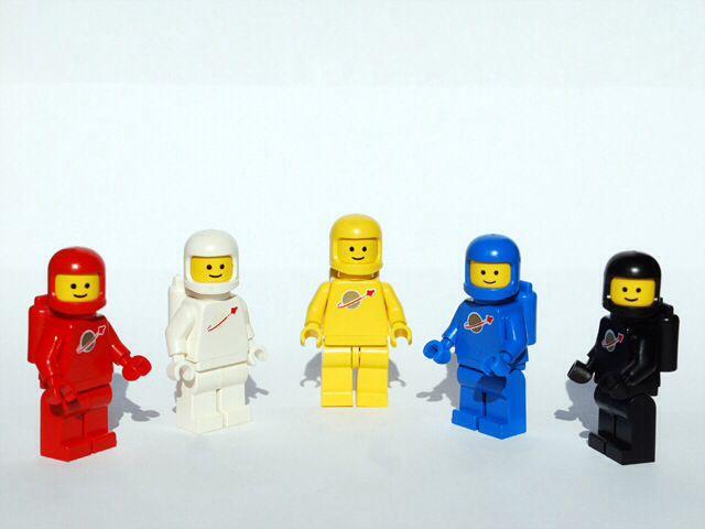 1 Classic Space astronauta Lego figuras