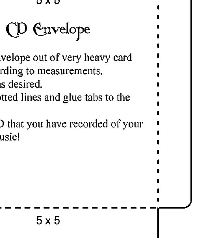 Make These Blank, Easily Decorated Envelope Templates Your Next Crafts Project: CD Envelope Template