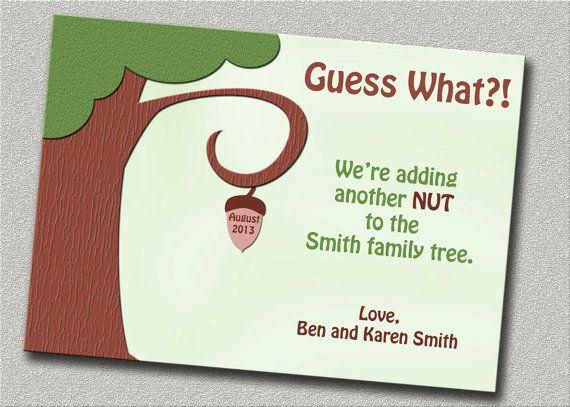 pregnancy annoucement cards