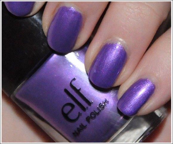 e.l.f. Nail Polish Copper & Purple Dream Swatches & Bilder