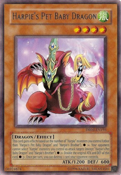 Harpie S Pet Baby Dragon Structure Deck Lord Of The Storm Baby Dragon Yugioh Card Art