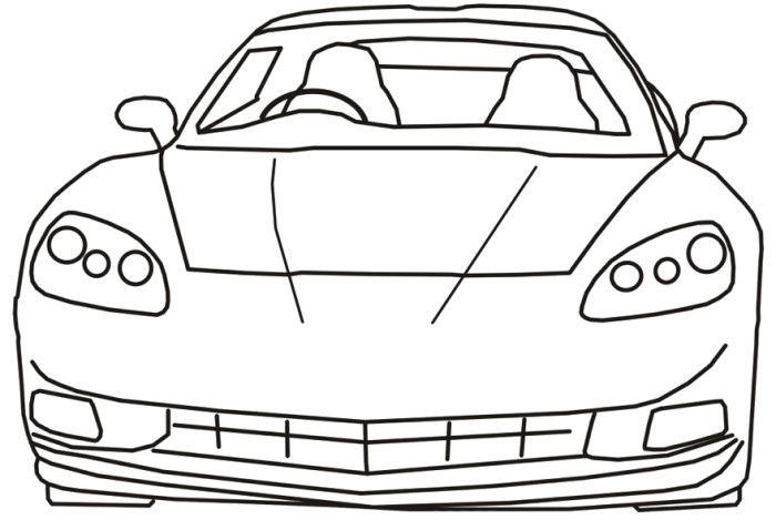 Corvette Sport Coloring Page