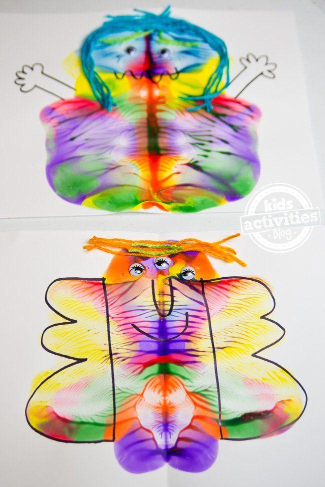 No-Mess Monster Craft | Monster crafts, Crafts, Craft ...
