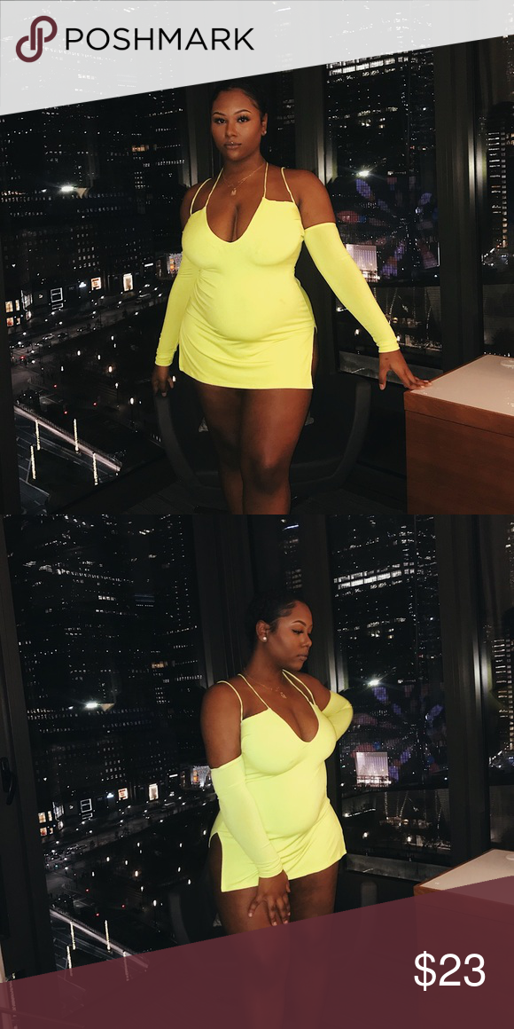 1e6aee91d4 Fashion Nova Highlight of my Day Mini Dress- Neon Fashion Nova Highlight of  My Day Mini Dress in Neon Yellow. Size XL. Worn once, washed once.