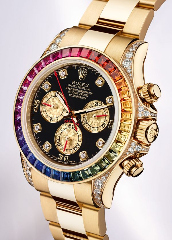 7c0ee20eb1c Rolex Oyster Perpetual Cosmograph Daytona Rainbow Watch. 40mm 18K yellow  gold case set with 56 diamonds