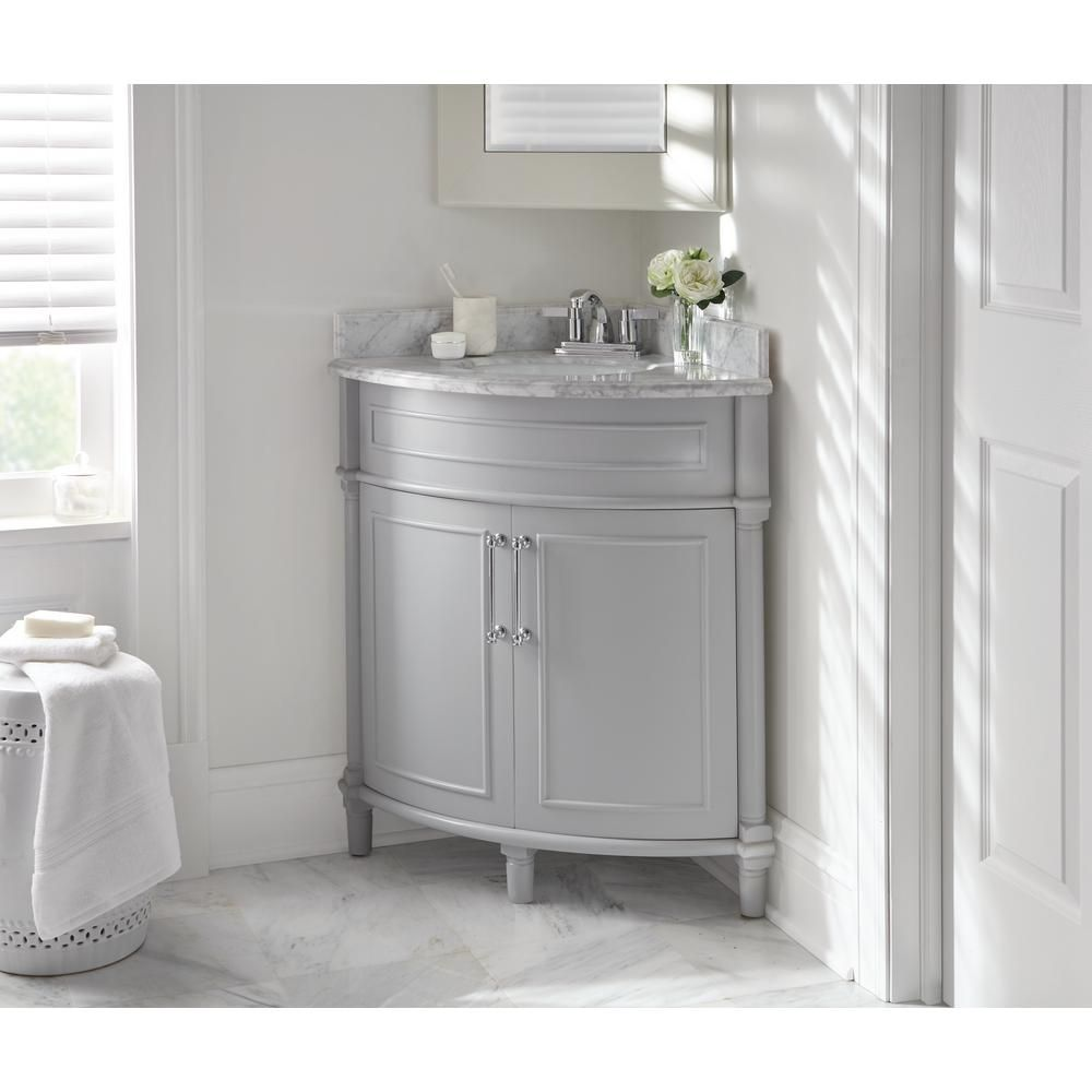 Nice Home Decorators Collection Aberdeen 32 In. W X 23 In. D Corner Vanity In