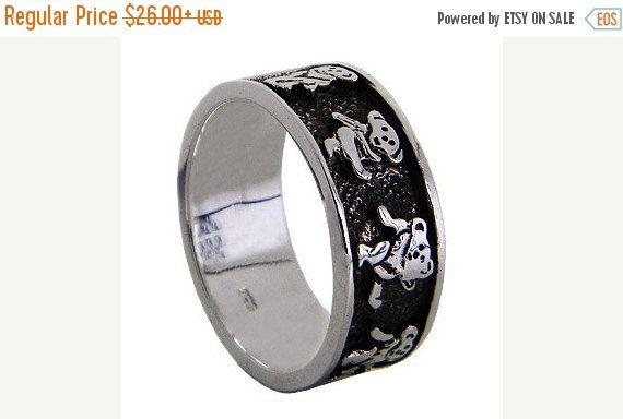 Grateful Dead Dancing Bear Sterling Silver Spinner Ring size 9