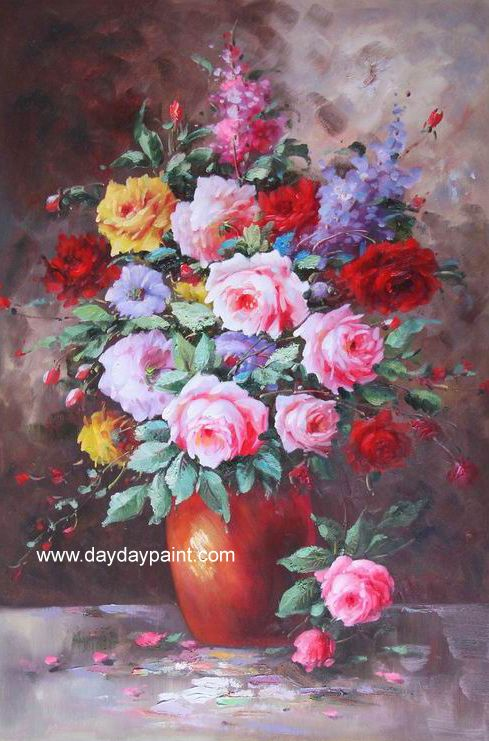 Flower Paintings By Famous Artists Handmade 033 100 Hand