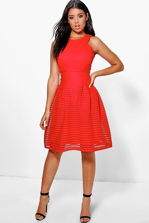 Boutique Li Panelled Full Skirt Skater Dress | Kleider