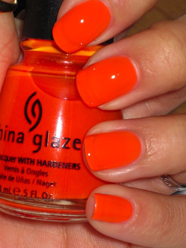 China Glaze Orange Knockout | MUST use white base coat and high ...