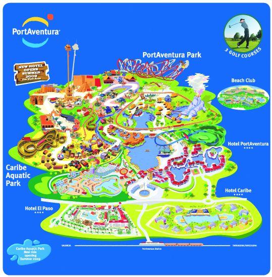 PortAventura Map Trip Pinterest Spain Park And Destinations - Port aventura billet