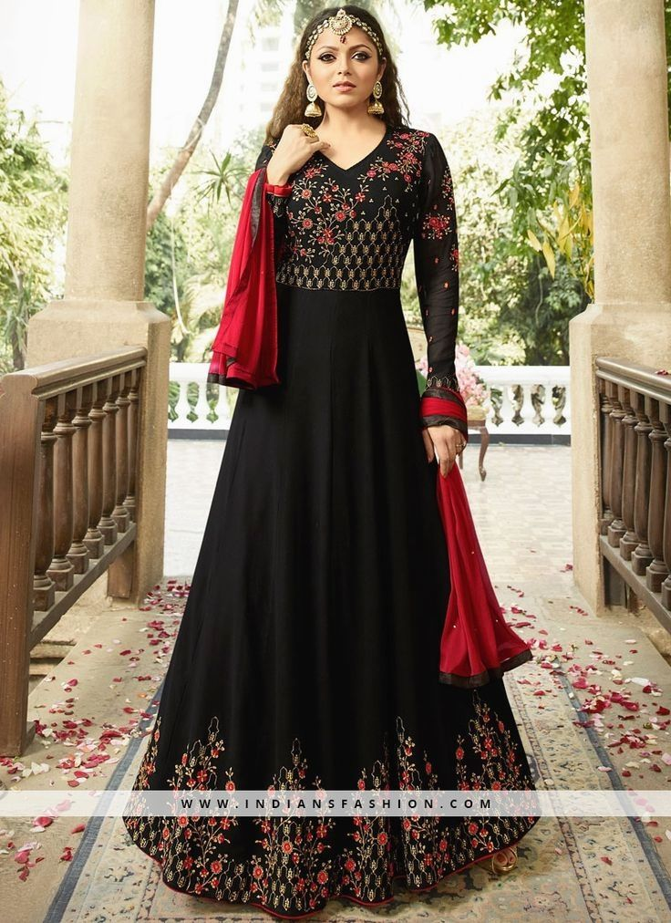 Black Floor Length Salwar