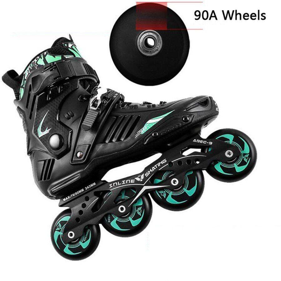 New Professional Smooth Sliding Inline Skates Adult Skating 4 Wheels