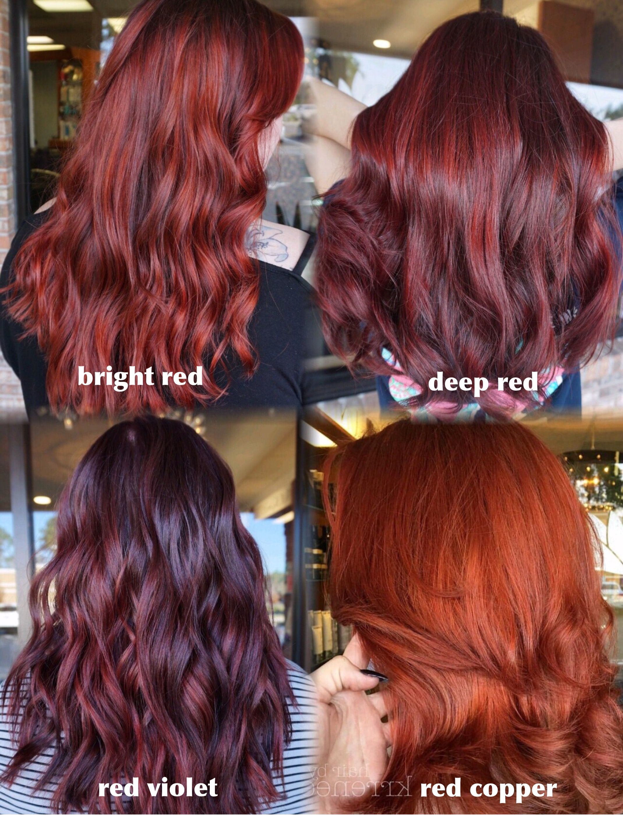 Different Shades Of Red shades of red hair! so many different tones for different