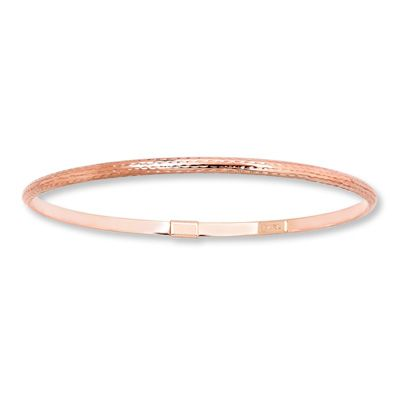 Bangle Bracelet 10k Rose Gold Rose Gold Bangle Bracelet Rose Gold Bangle Bangles