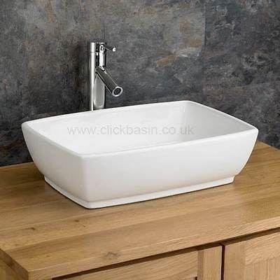 Bathroom Sinks Ebay 48cm x 34cm rectangular ceramic white countertop bathroom sink