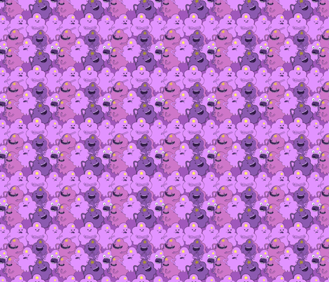 Adventure Time LSP Lumpy Space Princess Small fabric by kathrynrose on Spoonflower - custom fabric