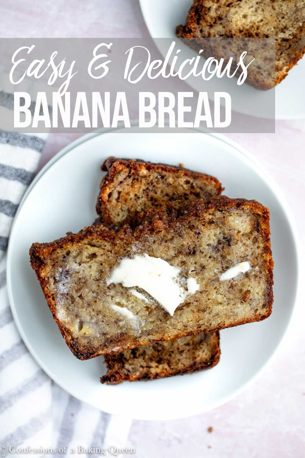 Banana Bread With Sour Cream Confessions Of A Baking Queen Recipe Best Banana Bread Banana Bread Banana Bread Recipes