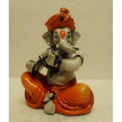 Fiber Ganesha Playing Manjira