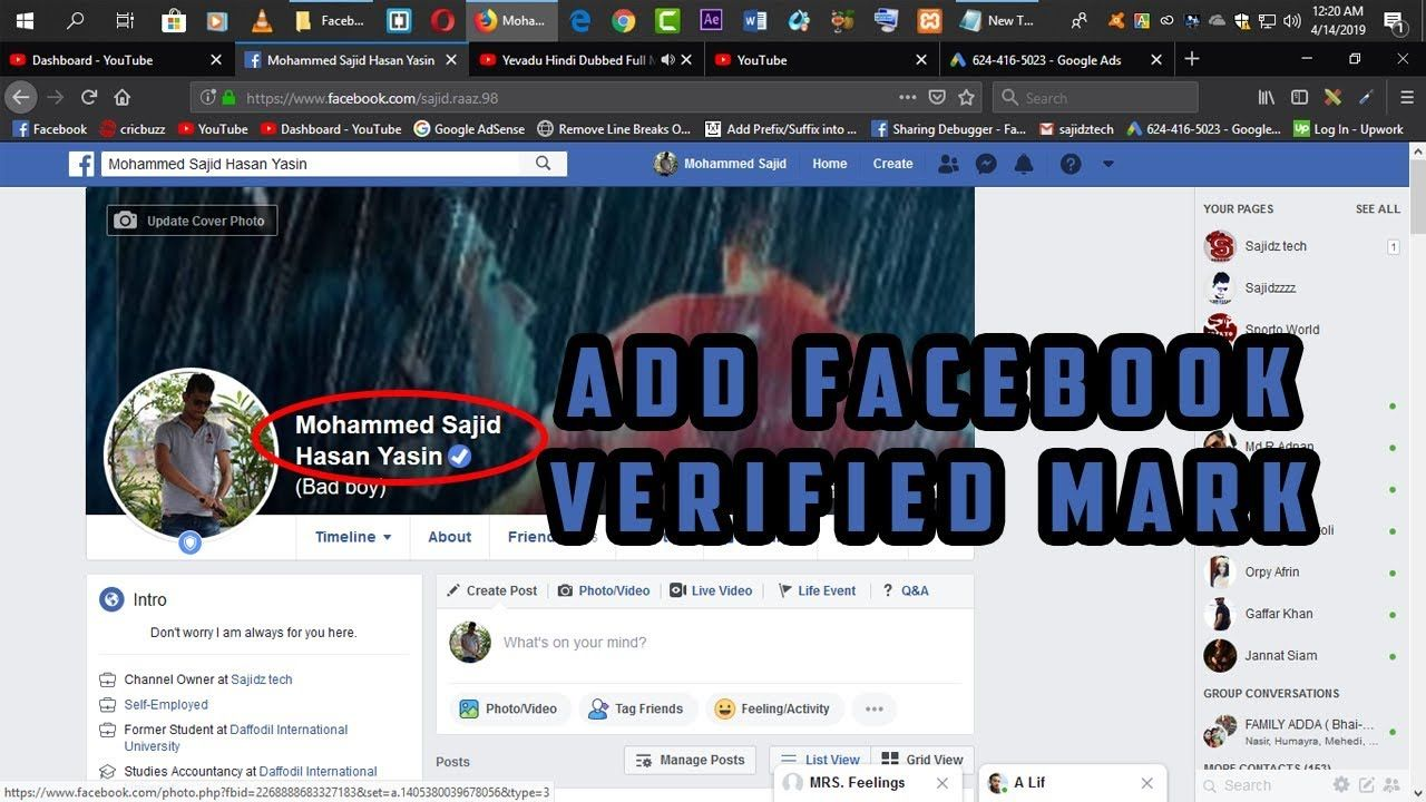 How to get facebook blue verified badge2019 new easy