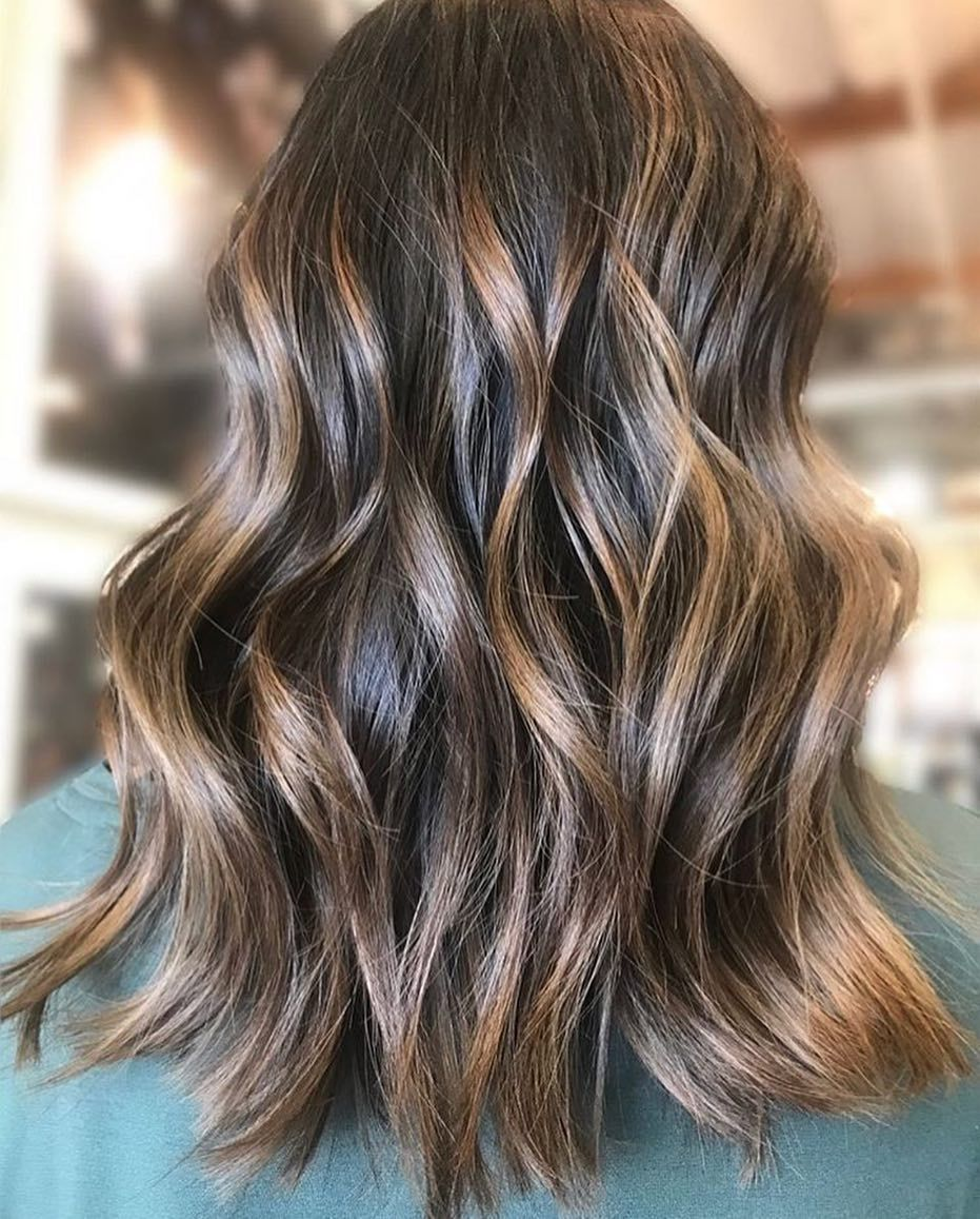 21 Balayage Dark Brown Hair Color Ideas For Changing Up Your Style In 2020 Hair Styles Curly Hair Styles Long Hair Styles