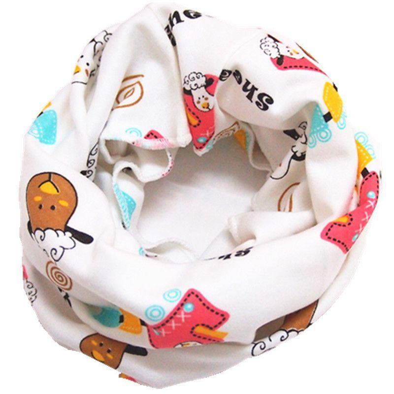 new dots flag car star bear bunny patterns cartoon baby scarf boys girls winter warm O ring wrap collars kids heanbands beanies