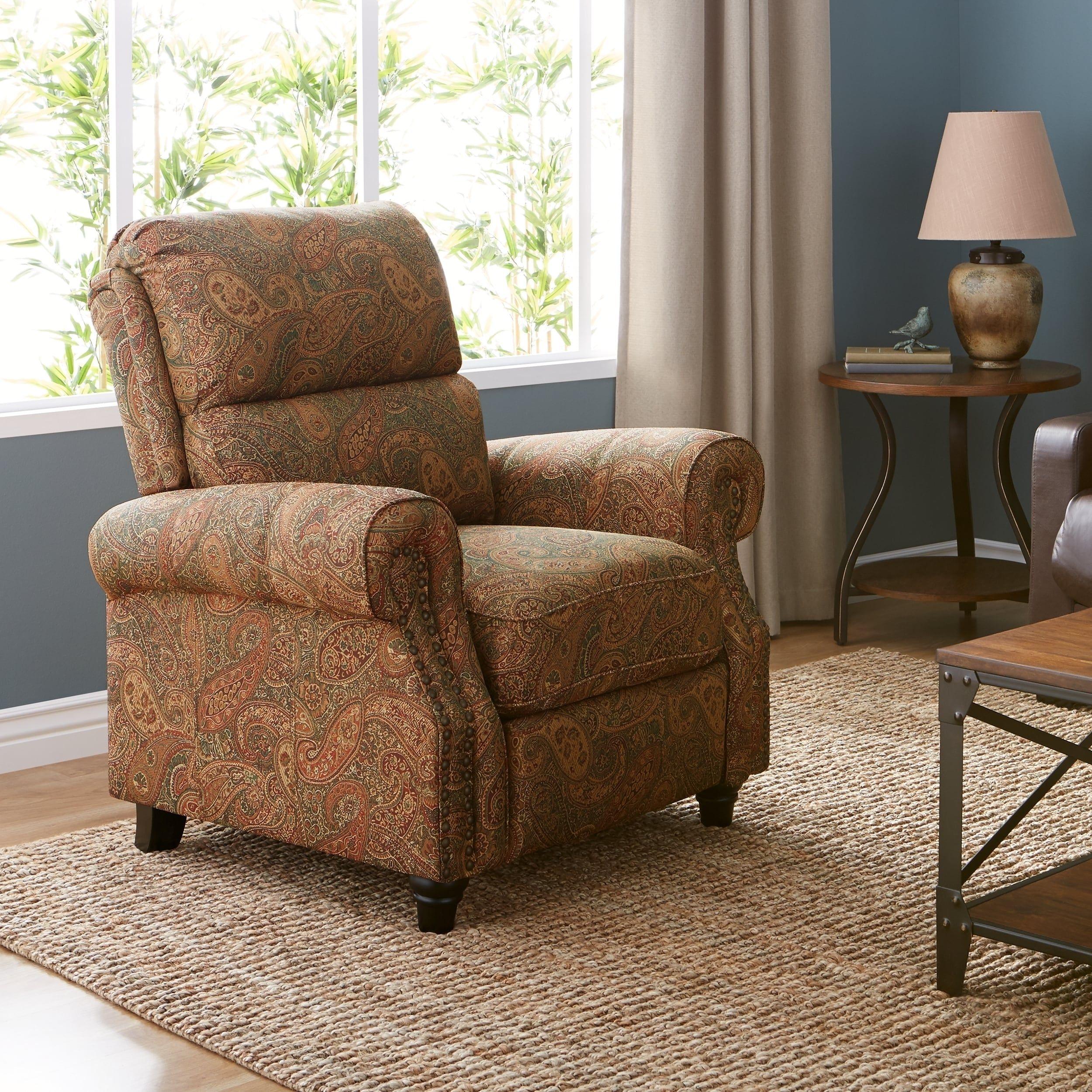 Groovy Copper Grove Jessie Prolounger Paisley Push Back Recliner Creativecarmelina Interior Chair Design Creativecarmelinacom