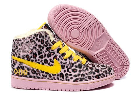 Air Jordan 1 Olympic Pack Leopard Pink Yellow Shoes