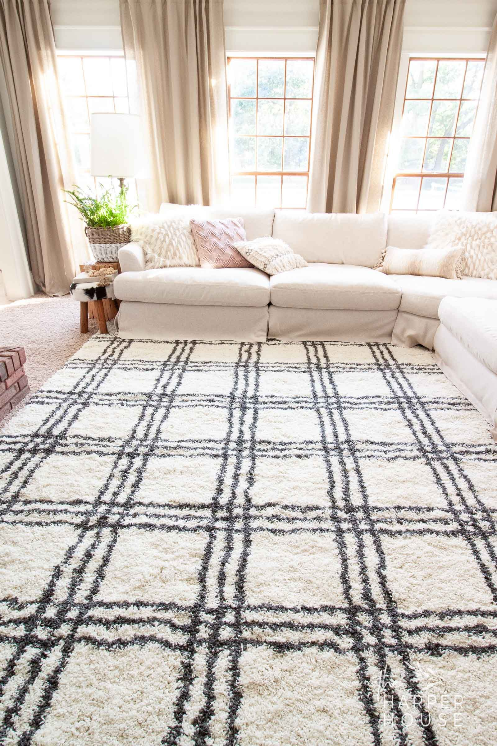 Black White Rug And Affordable Fall Favorites Black White Rug