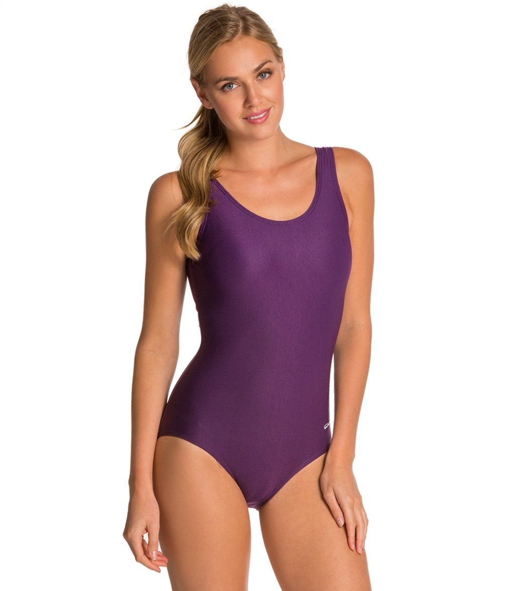 bf00f81d460 Waterpro Solid U-Back Conservative Fitness Swimsuit | fashion ...