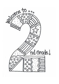Enjoyable coloring sheet to welcome your new 2nd graders. Also a fun bulletin board idea. Great 2nd grade master. by Bunky Business