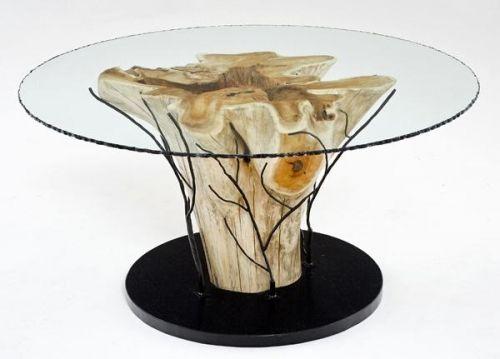 Rustic Organic Contemporary Dining Table Rustic