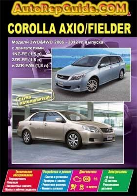 toyota corolla axio corolla fielder 2006 2012 repair manual rh pinterest com toyota corolla verso 2006 user manual 2006 toyota corolla ce owner's manual
