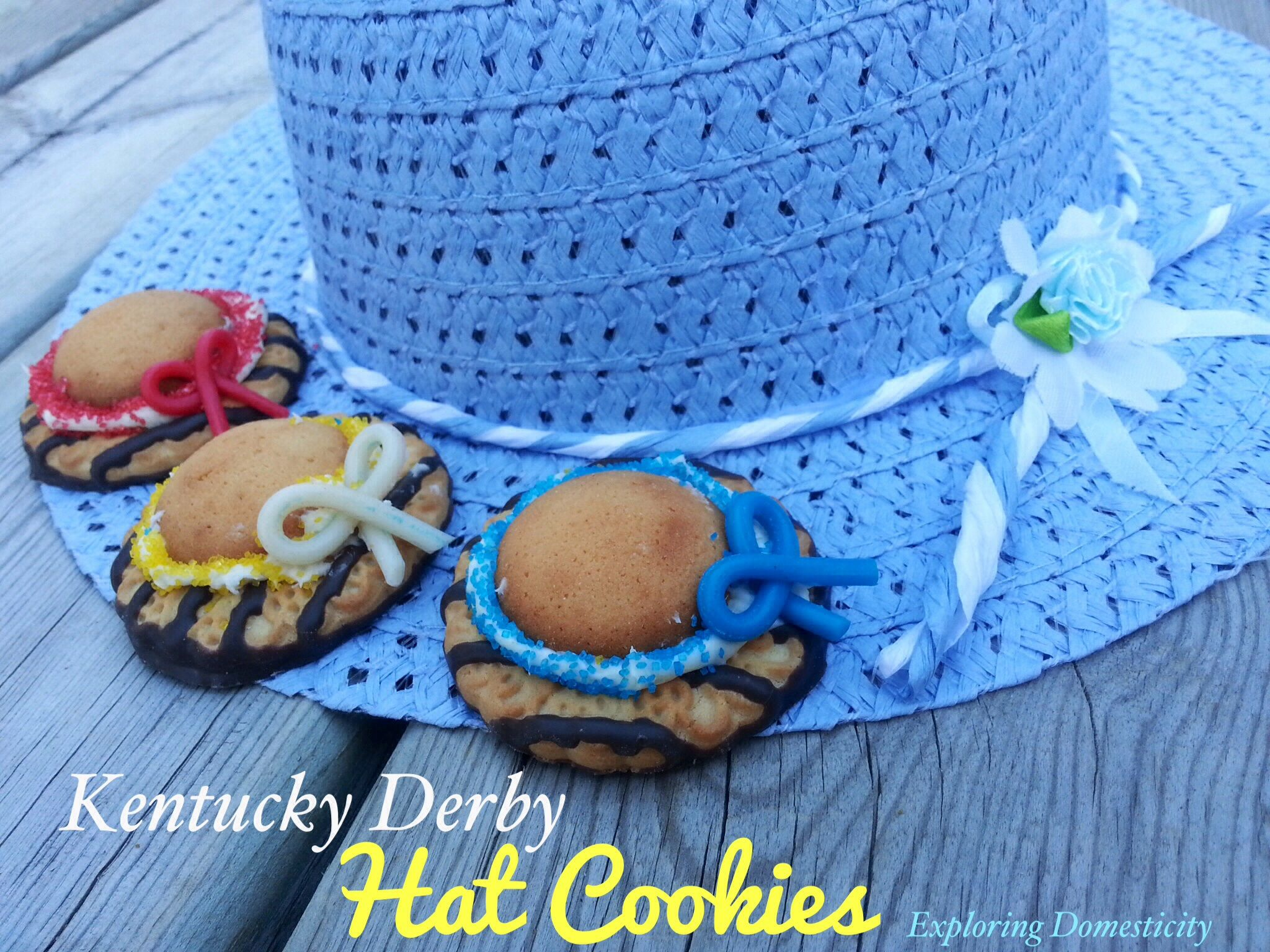 Quick And Easy Kentucky Derby Hat Cookies Exploring Domesticity Kentucky Derby Party Food Derby Party Food Kentucky Derby Food