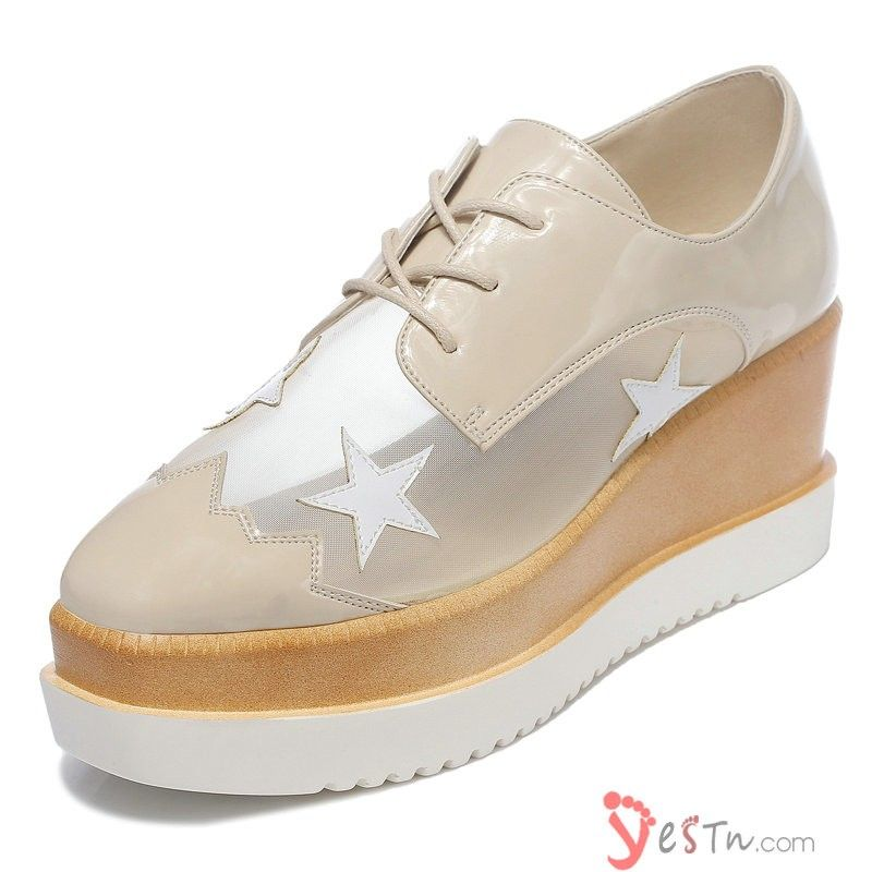 derbies femme beige talon compensee plateforme bout rond chaussures pinterest chaussure. Black Bedroom Furniture Sets. Home Design Ideas