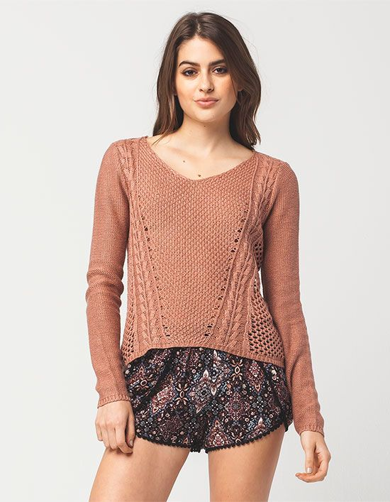FULL TILT Multi Stitch Womens Sweater 283723381 | Pullovers